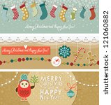 christmas and new year's banners | Shutterstock .eps vector #121060882