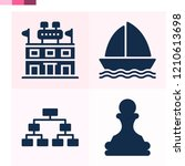 contains such icons as chess... | Shutterstock .eps vector #1210613698
