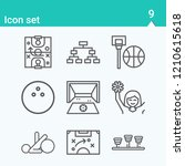 contains such icons as balance  ... | Shutterstock .eps vector #1210615618