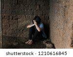young homeless despair child ...   Shutterstock . vector #1210616845