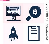contains such icons as search ... | Shutterstock .eps vector #1210617775