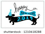 happy new year 2019 background... | Shutterstock .eps vector #1210618288