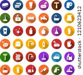 color back flat icon set   baby ... | Shutterstock .eps vector #1210623412