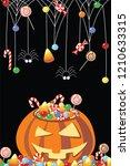 halloween pumpkins vector... | Shutterstock .eps vector #1210633315