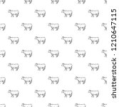 cow pattern seamless repeat... | Shutterstock .eps vector #1210647115
