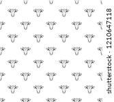 cow head pattern seamless...   Shutterstock .eps vector #1210647118