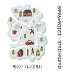 merry christmas illustration... | Shutterstock .eps vector #1210649668