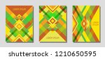 set of cover page layouts ... | Shutterstock .eps vector #1210650595