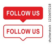 button follow us  red color...