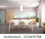 interior design modern kitchen... | Shutterstock . vector #1210655788