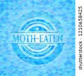 moth eaten sky blue emblem with ... | Shutterstock .eps vector #1210658425