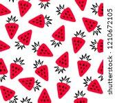 strawberry seamless pattern.... | Shutterstock .eps vector #1210672105