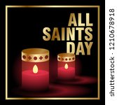 all saints day creative poster... | Shutterstock .eps vector #1210678918