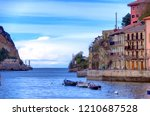 waterfront view of the town... | Shutterstock . vector #1210687528