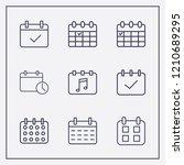 outline 9 week icon set.... | Shutterstock .eps vector #1210689295