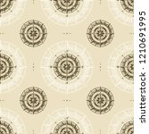 seamless vintage compass... | Shutterstock .eps vector #1210691995
