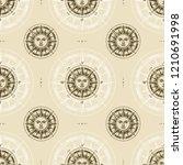 seamless vintage sun compass... | Shutterstock .eps vector #1210691998