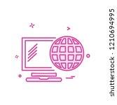 globe icon design vector | Shutterstock .eps vector #1210694995