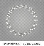 christmas lights isolated... | Shutterstock .eps vector #1210723282