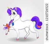 beautiful cartoon walking...   Shutterstock .eps vector #1210726522