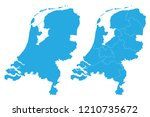 map   netherlands couple set  ... | Shutterstock .eps vector #1210735672