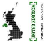 halftone map of united kingdom... | Shutterstock .eps vector #1210736248