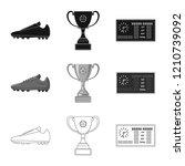 vector design of soccer and... | Shutterstock .eps vector #1210739092