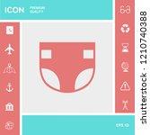 nappy icon symbol | Shutterstock .eps vector #1210740388