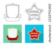 isolated object of emblem and... | Shutterstock .eps vector #1210741402