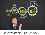 business person drawing success ... | Shutterstock . vector #1210742332