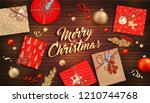 merry christmas and happy new...   Shutterstock .eps vector #1210744768