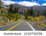 driving through the sierra... | Shutterstock . vector #1210750258