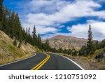 driving through the sierra... | Shutterstock . vector #1210751092