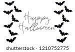 halloween paper decoration on... | Shutterstock . vector #1210752775