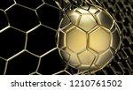 Golden Soccer Ball In The Gold...