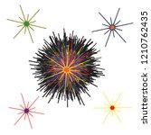 funky stars doodle vector...   Shutterstock .eps vector #1210762435