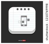 mobile share icon  | Shutterstock .eps vector #1210769998