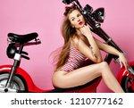 Woman Sitting Ride New Electri...