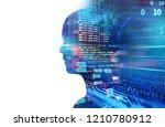 double exposure image of... | Shutterstock . vector #1210780912