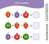 counting educational children... | Shutterstock .eps vector #1210782055