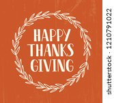happy thanksgiving   hand drawn ... | Shutterstock .eps vector #1210791022