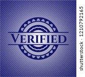 verified emblem with jean high... | Shutterstock .eps vector #1210792165