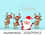 merry christmas and happy new... | Shutterstock .eps vector #1210792912