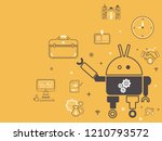 using robots to produce... | Shutterstock .eps vector #1210793572