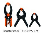 Black and orange spring clamp...