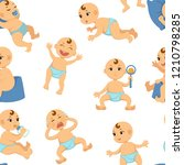 baby toddler vector flat... | Shutterstock .eps vector #1210798285