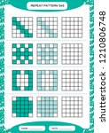 repeat blue pattern. cube grid... | Shutterstock .eps vector #1210806748