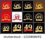 set of number forty nine  49... | Shutterstock .eps vector #1210808692