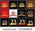 set of number twenty three  23...   Shutterstock .eps vector #1210808698