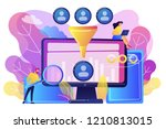 data scientist and specialist... | Shutterstock .eps vector #1210813015